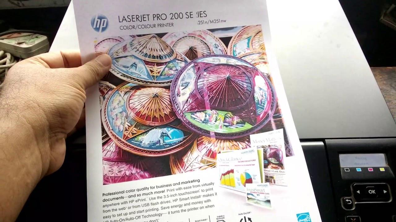 HP LaserJet Pro 200 Color m251n    Print Quality Problem    test page print