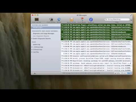 How to find your Logs Mac OS X