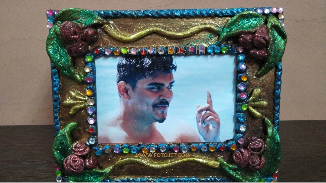 \how to make paper clay\how to make photo frame from paper clay \home  decore ideas