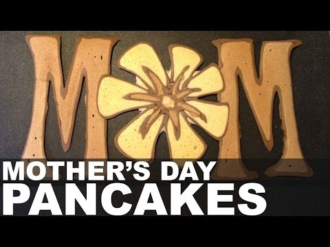Mother's Day Pancake Art