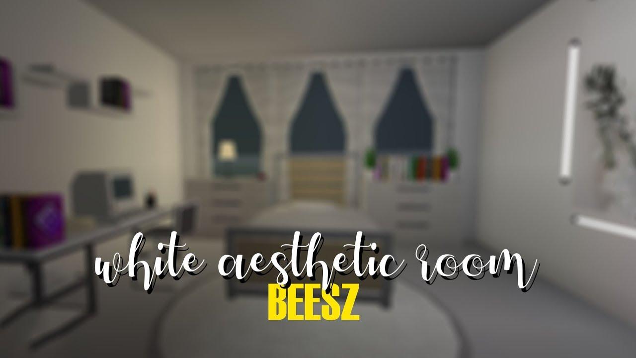 Bloxburg White Aesthetic Bedroom No Gamepass 5k Youtube