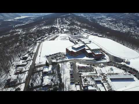 DJI Inspire 1 Drone filming Winter Storm Petra Allegany & Bishop Walsh School Cumberland Maryland 4k