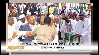 Drama, Protests As Buhari Presents 2019 Budgets To National Assembly