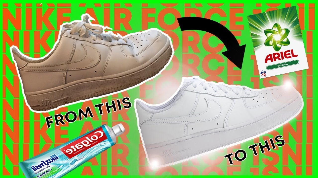 HOW TO: CLEAN AIR FORCE 1s USING HOUSEHOLD ITEMS!