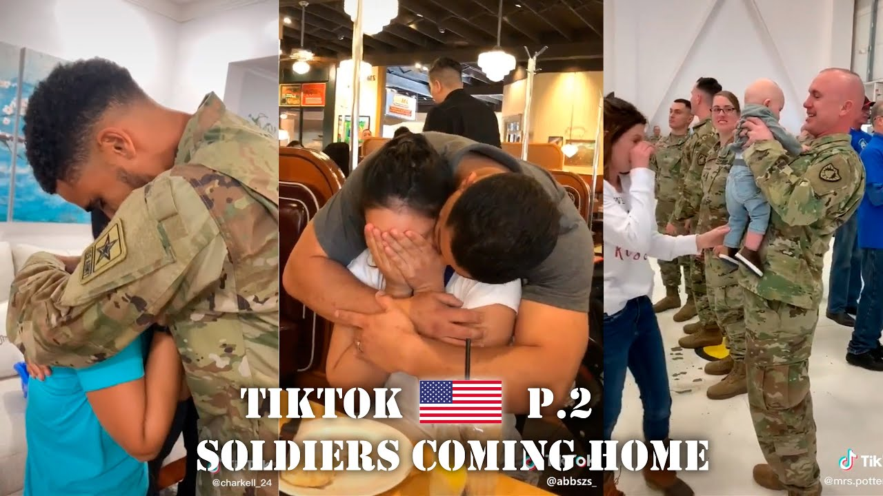 Military Homecoming 2 TikTok Compilation | Soldiers Coming Home 2020