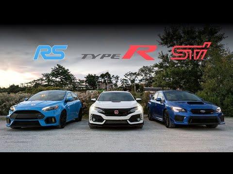 2018 Subaru STi vs Civic Type R vs Focus RS Review - Battle of the Year