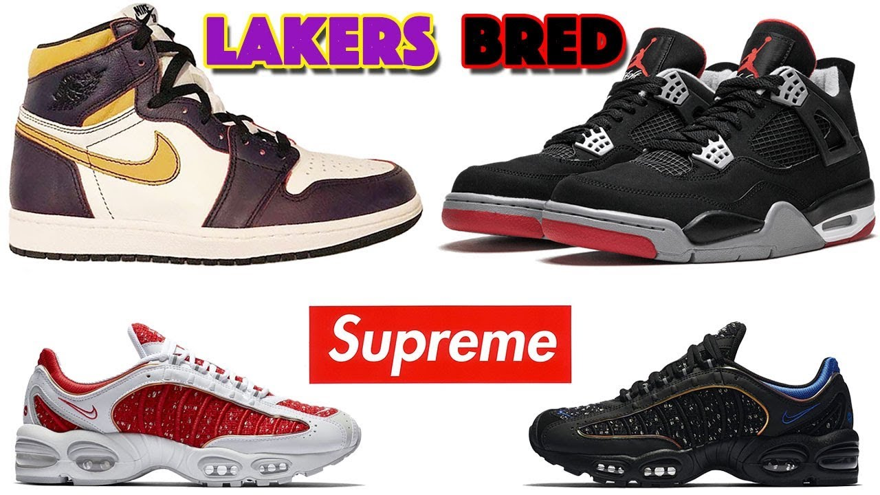 Sb Chicago4 BredSupreme And Jordan X Air Nike Max Tailwind To Lakers More 1 BoxrCed