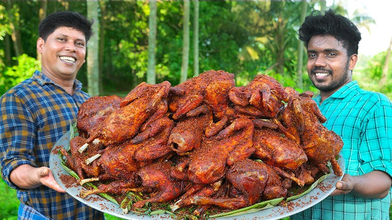 FULL CHICKEN ROAST | Whole Fried Chicken Recipe | Payyoli Chicken Cooking In Village