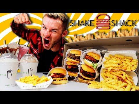 THE SUPERCHARGED SHAKE SHACK MENU CHALLENGE! (11,000+ CALORIES)