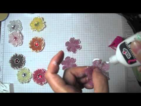 DIY:Easy to make Cheesecloth fabric flower tutorial by SaCrafters