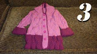 Как связать пальто для девочки 2,5 года спицами (часть 3, завершающая)