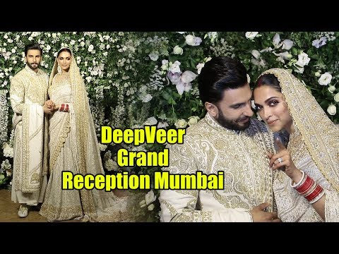 Power Couple😎😘 Ranveer Singh And Deepika Padukone GRAND Reception In Mumbai