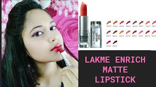 Lakme Enrich Matte Lipstick Review amp Swatches Shade RM12 4 7g 20 Shades Available