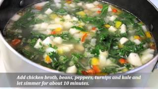 Kale And White Bean Soup With Chicken Sausage