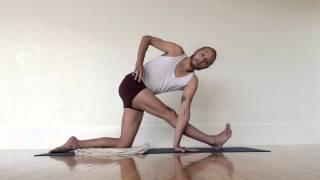 IMIYA Revolved Triangle Pose (Parivrtta Trikonasana)
