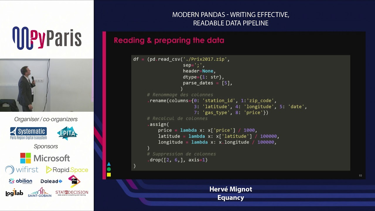 Image from Modern Pandas - Writing effective, readable data pipeline