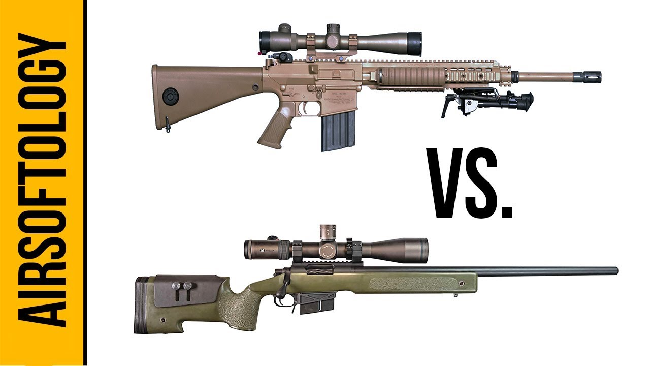DMR vs Bolt Action - What's a Better Airsoft Sniper Rifle? | Airsoftology  Q&A Show