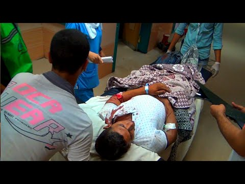 EXCLUSIVE || EGYPT || Six security men injured in Cairo's blast
