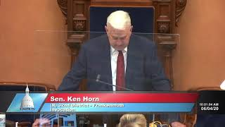 Sen. Horn delivers the invocation to open the Michigan Senate session