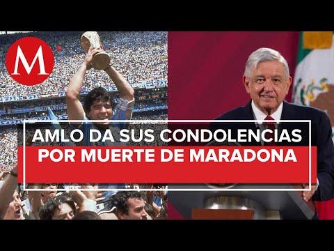 Por Maradona encontré la gracia al futbol: AMLO; lamenta muerte del astro argentino