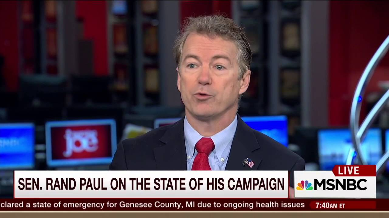 Rand Paul on Marco Rubio\'s ISIS Comments | MSNBC Morning Joe - YouTube