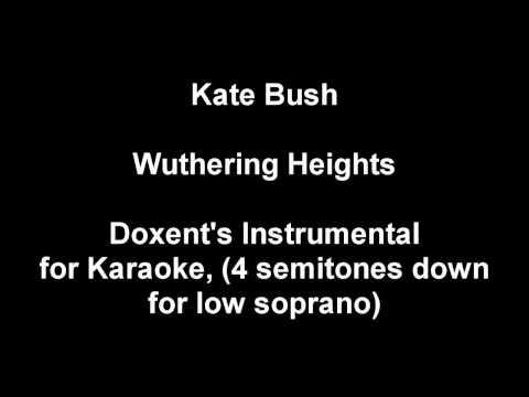 Wuthering Heights - 4 semitones down instrumental karaoke version