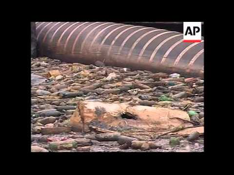 ARGENTINA: PEOPLE SWIMMING IN POLLUTED RIVER