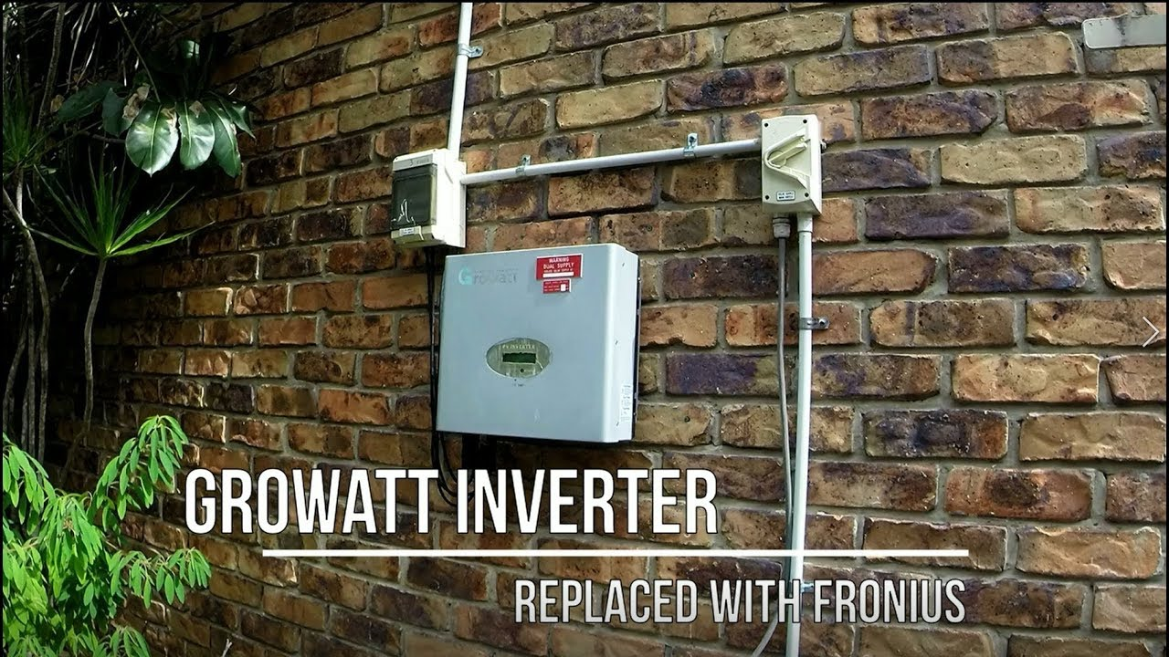 Growatt Sungold Inverter Replaced with Fronius Solar Inverter