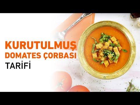 Kurutulmuş Domates Çorbası Tarifi   Domates Çorbası Nasıl Yapılır?