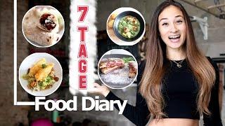 Food Diary - Deutsch - Ganze Woche - Nährwerte - Meine Ernährung - Gesunder Ernährungsplan