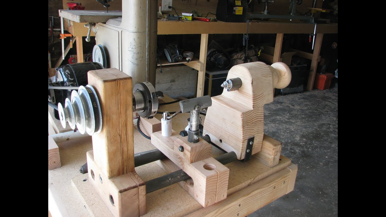 Build A Lathe Out Of Bicycle Parts And Other Junk 1 Of 2