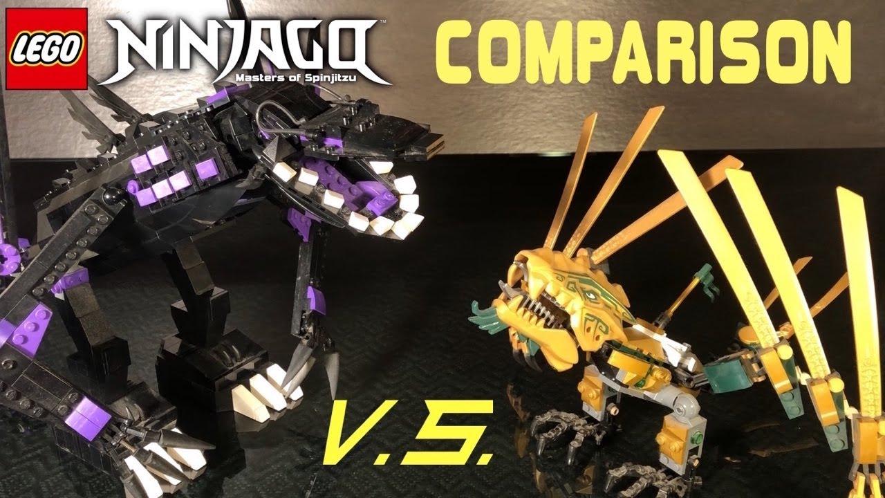 Lego ninjago overlord dragon vs golden dragon comparison youtube - Ninjago dragon d or ...