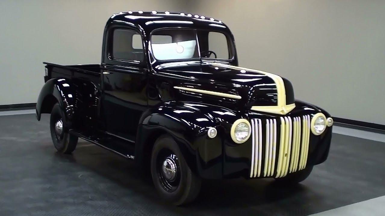 1945 Ford Pickup Flathead V8 Nicely Restored - YouTube
