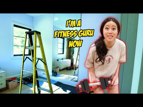 WE'RE BUILDING A HOME GYM!! Room Transformation!