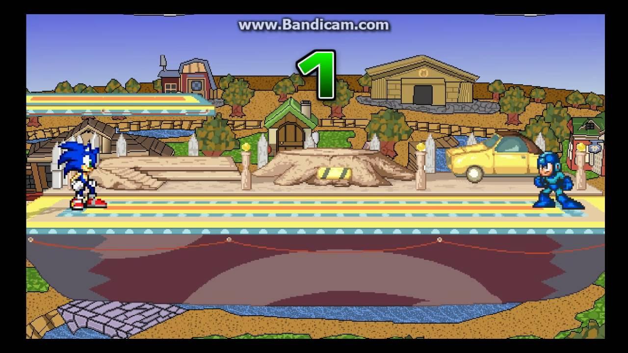 Super Smash Flash 2 SSB4 Sonic mod by Blur