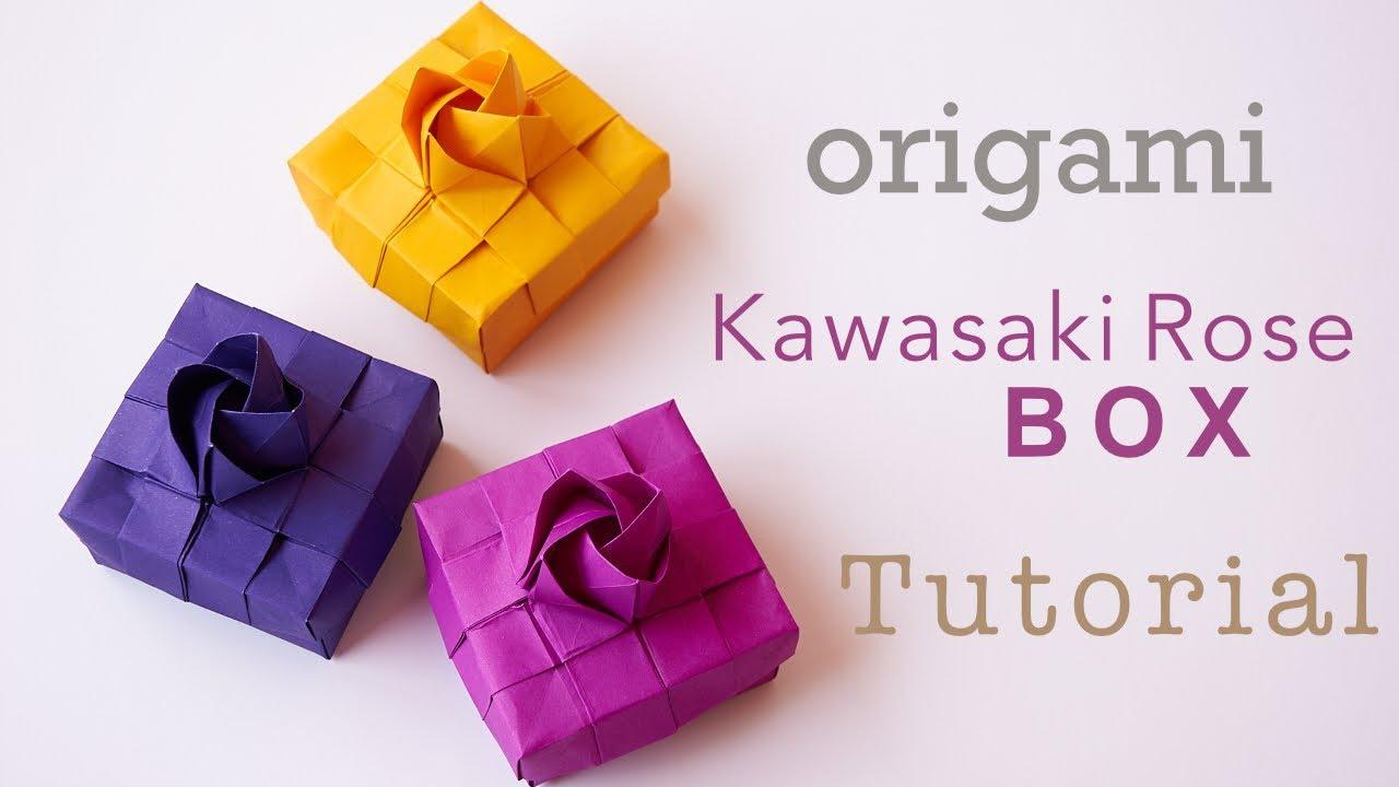 Origami Kawasaki Rose Box Tutorial Youtube
