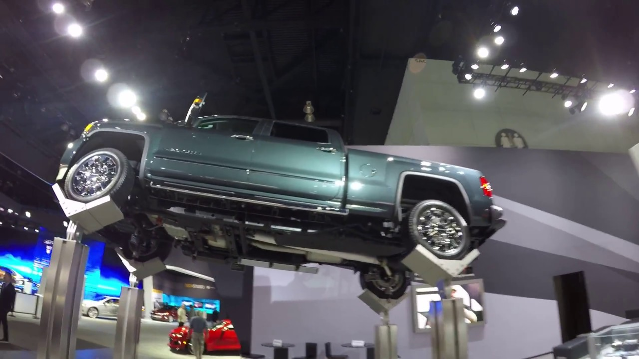 UNDER CARRIAGE OF 2017 GMC SIERRA HD DENALI TRUCK with DURAMAX 6.6 L V8 TURBO - LA Auto Show ...