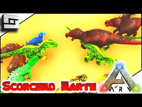 MODDED ARK: Scorched Earth - DINO BATTLE! E22 ( Ark Survival Evolved Gameplay )