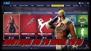 FORTNITE: April 26th shop, NEW SKIN BLACK WIDOW, SKIN FENDEUR OF THE CIEUX, item shop