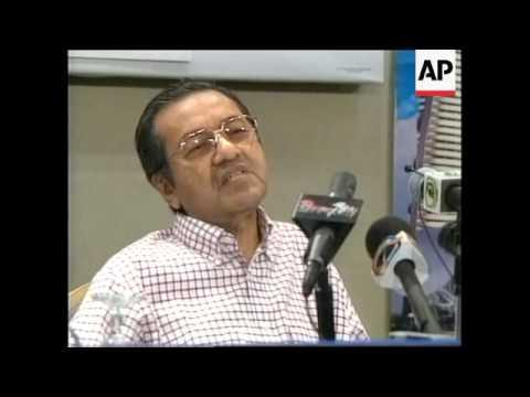 MALAYSIA: KUALA LUMPUR: ANWAR IBRAHIM RALLY ENDS IN VIOLENCE