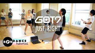 "GOT7 ""Just Right"" Dance Tutorial (Pre-Chorus, Chorus)"