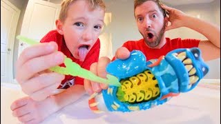 Father & Son DISSECT GROSS ALIEN BUG 3 !? / Rare Treasure Found!
