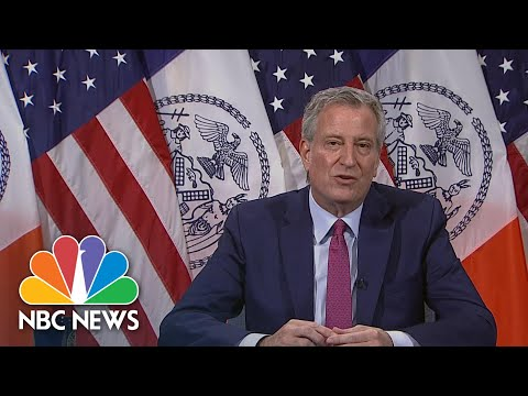 NYC Mayor De Blasio Addresses Police Union Leaders Response To Shake Shack Incident | NBC News NOW