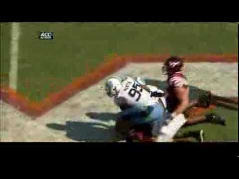 UNC Football: Otis, Martin Big Sack for 14yd Loss