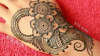 Sawan Special Easy Floral Arabic Mehndi Designs||Beautiful Henna Bunch||New Simple Back Hand Mehndi