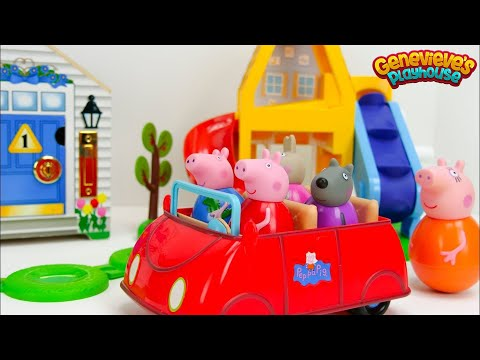 Thumbnail: Best Preschool Toy Learning Video for Babies Peppa Pig Weeble Playground & Locking Dollhouse Kids!