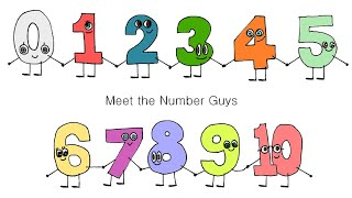Meet the Number Guys! Zero to Ten: 123's - The Kids' Picture Show (Fun & Educational Learning Video)