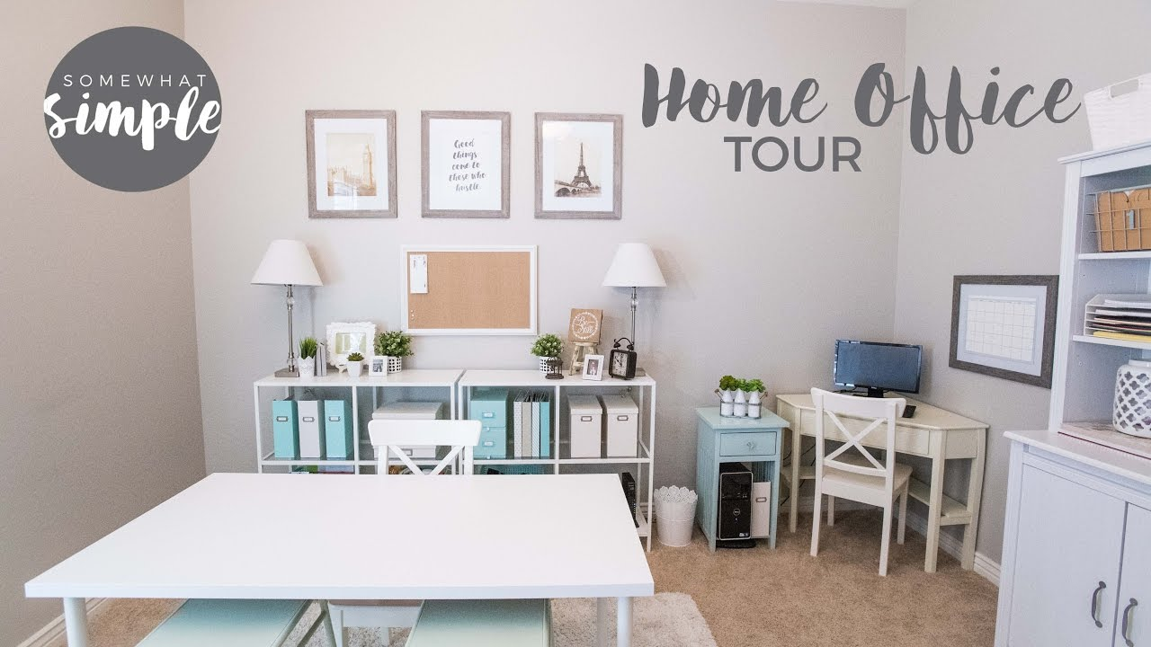 Inexpensive Home Office Organization And Decorating Inspiration   Home  Office Tour