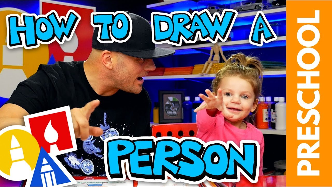Drawing A Person With My 2-Year-Old (Preschool Lesson)