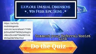 ALL QUESTIONS AND ANSWERS ( WIN EPIC SKIN)  - AURORA'S HEART EVENT MOBILE LEGENDS